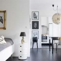 красивый дизайн спальни в белом цвете картинка