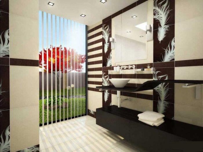 светлый декор коридора в японском стиле