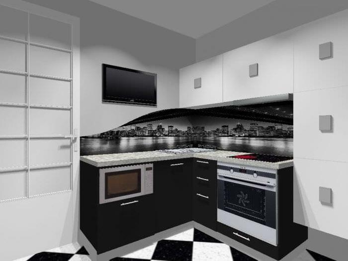 светлый интерьер белой кухни с оттенком песочного