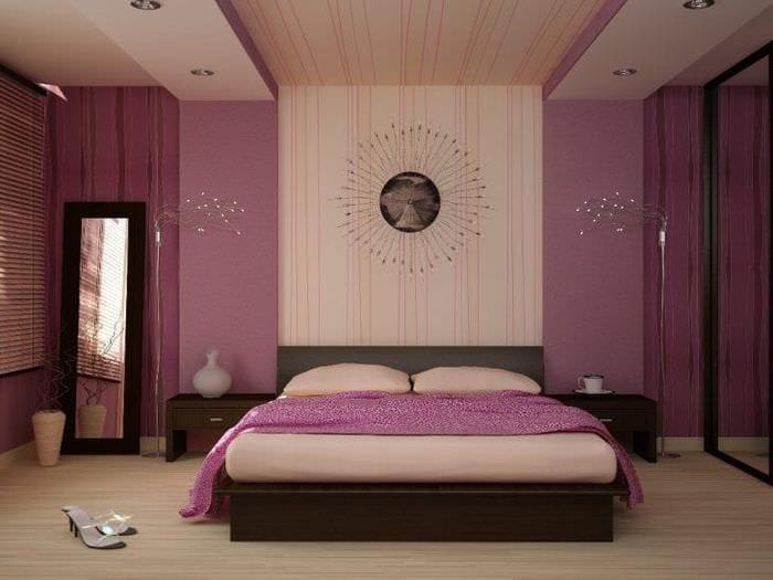 яркий стиль спальни в различных тонах