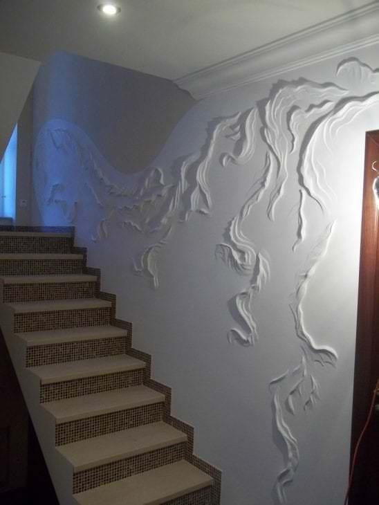 Как сделать рельеф стен