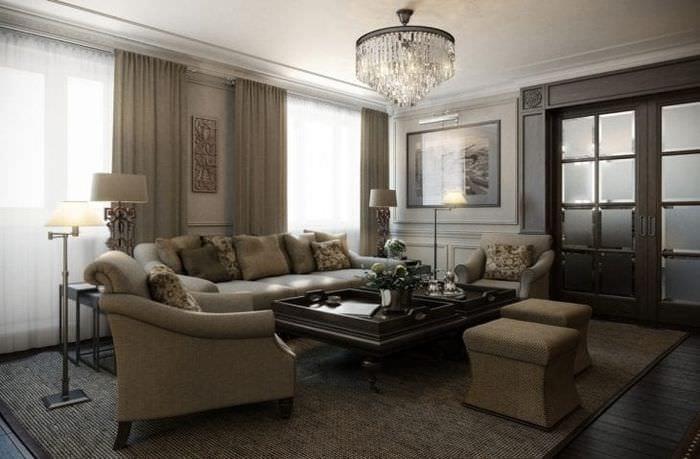 светлый дизайн дома в американском стиле