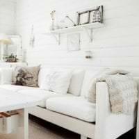 светлый дизайн спальни в французском стиле картинка