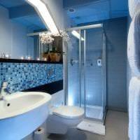 светлый стиль ванной комнаты с душем в светлых тонах картинка