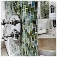 необычный стиль ванной комнаты с душем в темных тонах картинка
