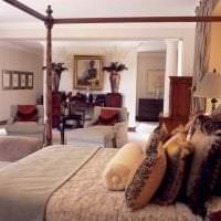 красивый декор спальни в этническом стиле картинка