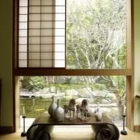 яркий интерьере коридора в японском стиле картинка