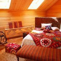 светлый дизайн спальни в этническом стиле фото