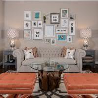 яркий дизайн квартиры в цвете кофе с молоком картинка