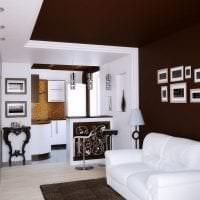 темный дизайн коридора в стиле эклектика картинка