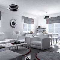 красивый дизайн спальни в стиле хай тек картинка