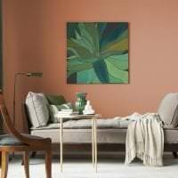 яркий терракотовый цвет в интерьере коридора фото
