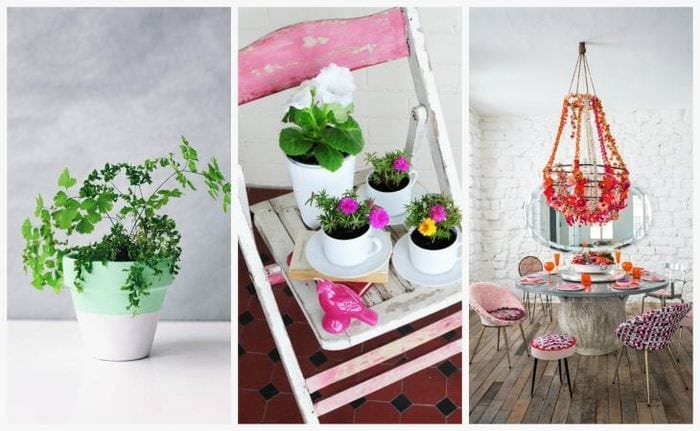 красивый весенний декор в стиле прихожей