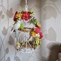 красивый весенний декор в дизайне кухни фото