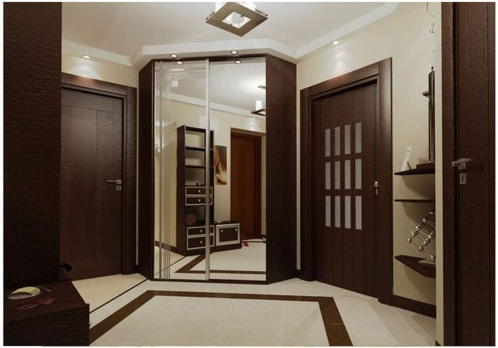 Дизайн квартир двери венге