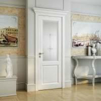 светлые двери в интерьере спальни картинка
