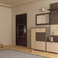 темные двери в декоре кухни из красного дерева картинка