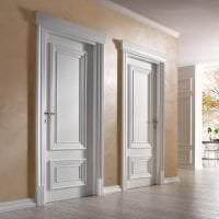 светлые двери в дизайне кухни картинка