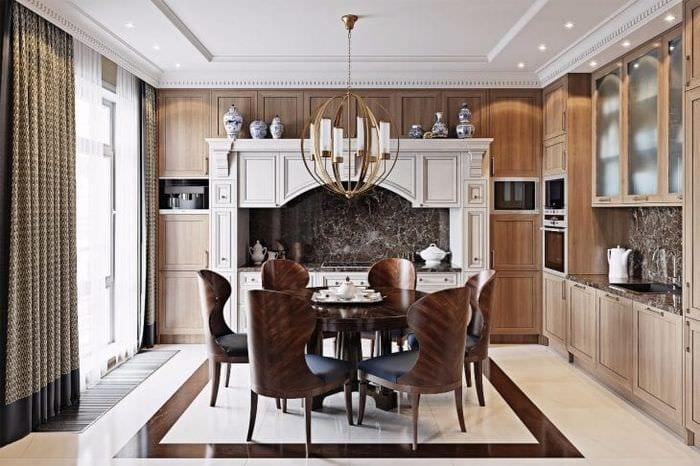 яркий интерьер гостиной в стиле эклектика