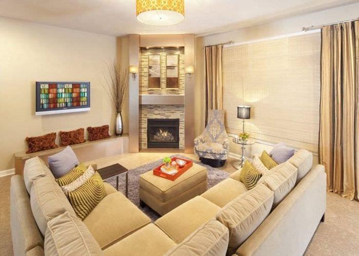 красивый угловой диван в стиле прихожей
