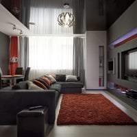 красивый угловой диван в стиле коридора картинка