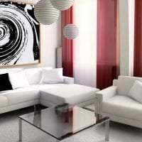 кожаный угловой диван в стиле прихожей фото