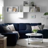 красивый угловой диван в стиле квартиры картинка