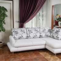 красивый угловой диван в интерьере квартиры фото