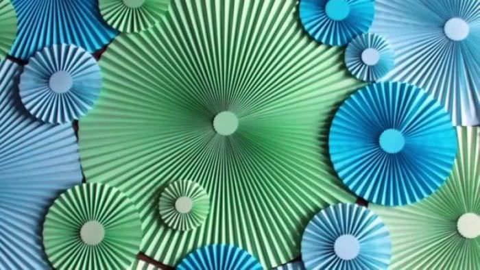 веер из картонки в дизайн коридора