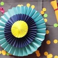 веер из бумаги в дизайн коридора фото