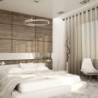 яркая мдф 3д панель в спальне картинка