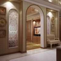 светлая арка в интерьере кухни фото