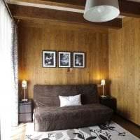 отделка вагонкой ярком интерьере спальни из алюминия