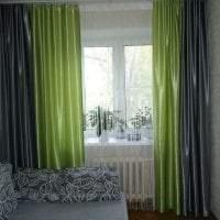 цветные шторы нити в дизайне коридора фото