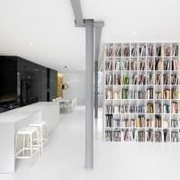светлый белый пол в стиле квартиры картинка