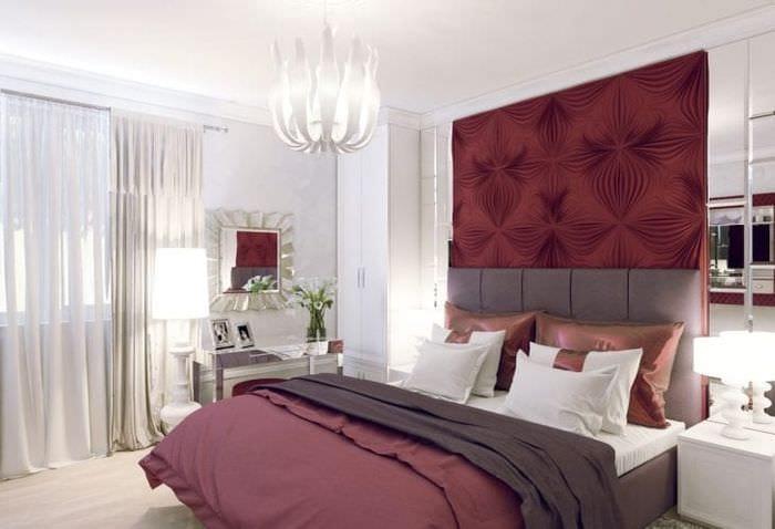 красивый цвет марсала в дизайне комнаты