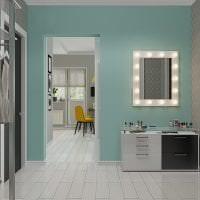 красивый цвет тиффани в декоре кухни фото