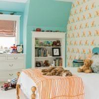 красивый цвет тиффани в дизайне спальни фото