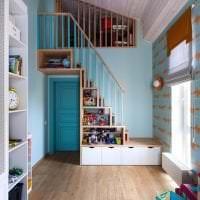 яркий цвет тиффани в дизайне коридора фото