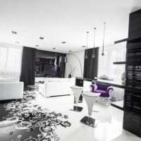 необычный стиль кухни в черно белом цвете картинка