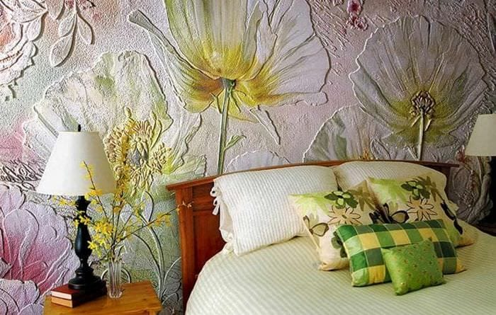 необычный дизайн квартиры с барельефом
