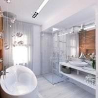 красивый стиль ванной комнаты с душем в ярких тонах картинка