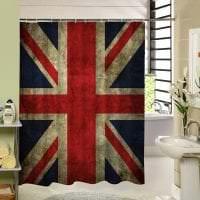 яркий дизайн ванной комнаты с душем в темных тонах фото