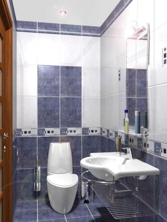 необычный дизайн ванной комнаты с душем в светлых тонах