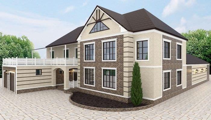 светлый интерьер загородного дома в архитектурном стиле