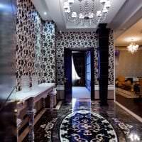 светлый интерьер квартиры в стиле деко арт картинка