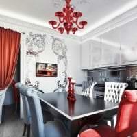 светлый дизайн комнаты в стиле арт деко фото