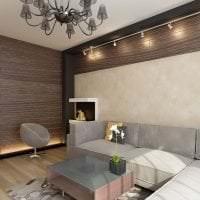 светлый стиль спальни в шоколадном цвете картинка