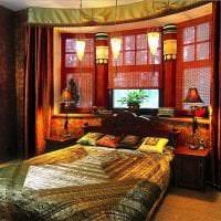 яркий стиль спальни в этническом стиле фото