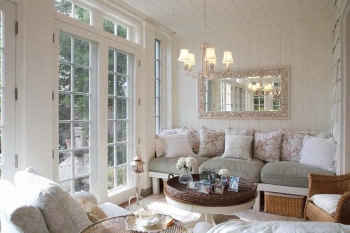 красивый интерьер гостиной в французском стиле